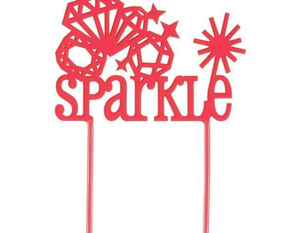 Sparkle Cake Topper