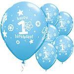 1st Birthday Boy Party Balloons