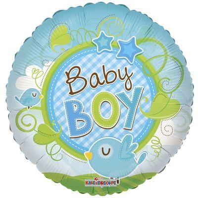 9″ Baby Boy Birds Balloon