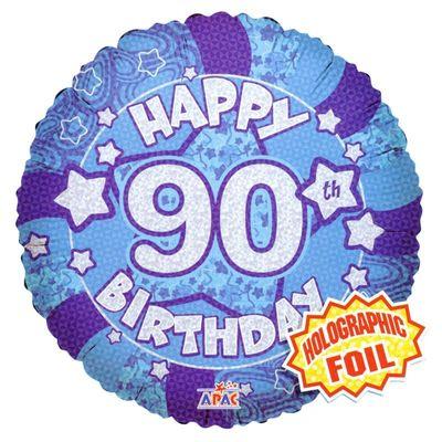 Blue Happy 90th Birthday Balloon