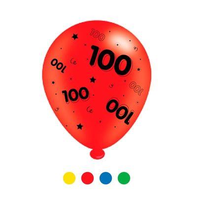 Age 100 Unisex Mix Latex Balloons (6 Packs)