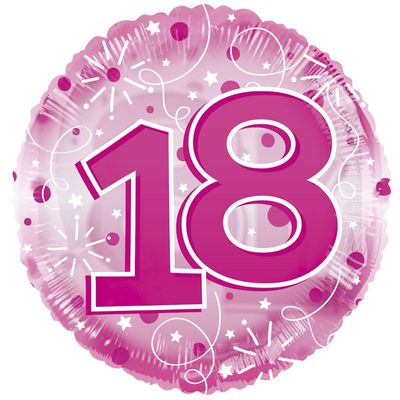 Age 18 Clearview Balloon – Pink [24 Inches]