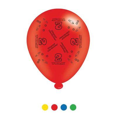 Age 2 Unisex Birthday Latex Balloons x8