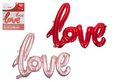 Assorted Coloured Large Love Balloon