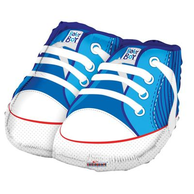 Baby Blue Shoes Balloon