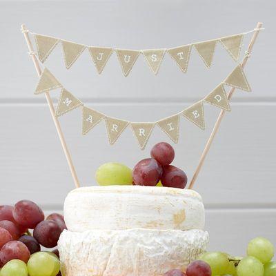 Just Married Vintage Cake Bunting