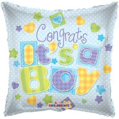 """Congrats Its A Boy"" Foil Balloon"