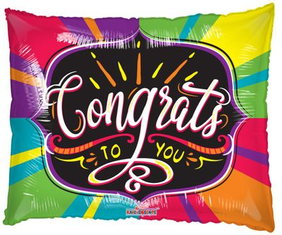Congrats Supershape Balloon
