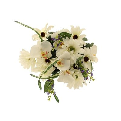 Gerbera & Orchid Bush Cream [45 cm]