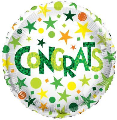 ECO Balloon – Congrats Green (18 Inch)