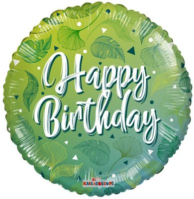 ECO ONE Balloon – Birthday Green Motifs (18 inch)