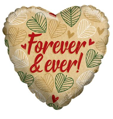 """Eco One """"Forever and ever Leaves"""" Baloon [18 Inches]"""