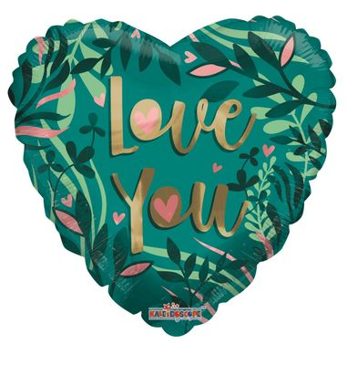 """Eco One """"Love"""" Green Balloon [18 inches]"""