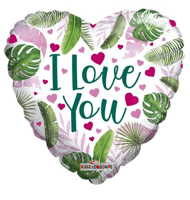 """Eco One """"I Love You"""" Hearts and Leaves Baloon [18 Inches]"""