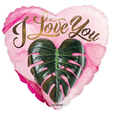 """Eco One """"Love You"""" Heart Leaf Baloon [18 Inches]"""