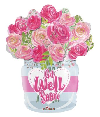 Get Well Roses Balloon (18 inch)