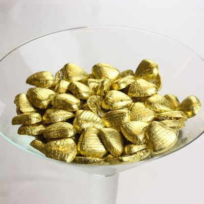 Gold Hearts Chocolate 500g