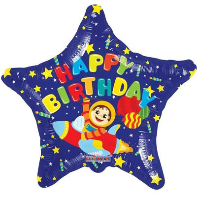 Happy Birthday Space Balloon