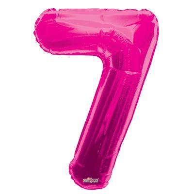 Magenta Number 7 Balloon 34inch