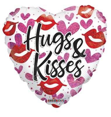 """Hugs and Kisses"" Balloon [18 inch]"
