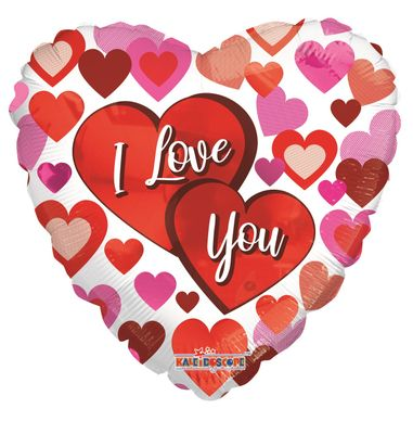 """I Love You"" Big Hearts Baloon [18 inch]"