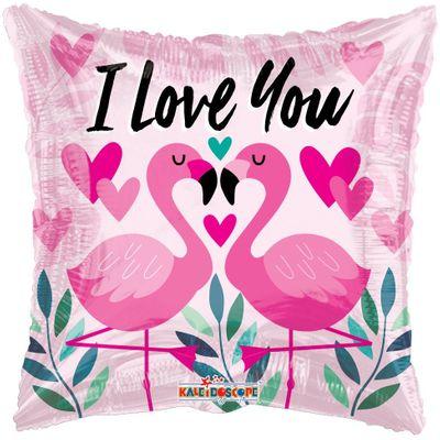 """I Love You"" Flamingo Balloon [18 inches]"
