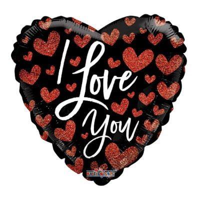 """I Love You"" Hearts Balloon [18 Inches]"