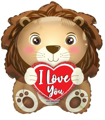"""""""I Love You"""" Lion Balloon [18 Inches]"""