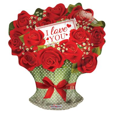 """""""I Love You"""" Red Roses Balloon [18 Inches]"""