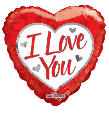 """""""I Love You"""" Supershape Heart Balloon [36 Inches]"""