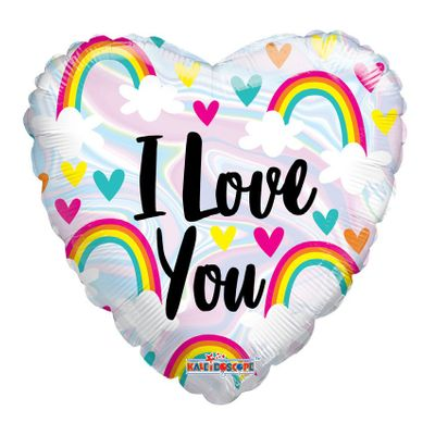 """I Love You"" Rainbows Balloon [18 inch]"