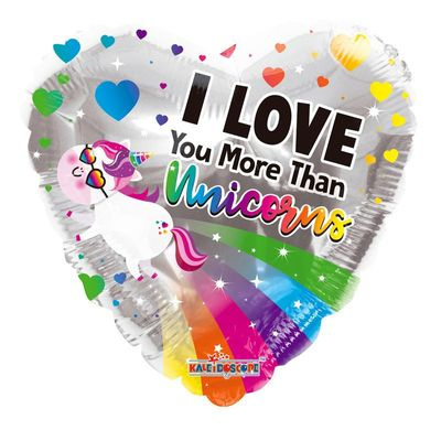 """I Love You More than Unicorns"" Balloon [18 Inches]"