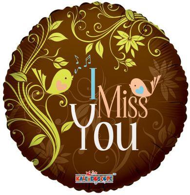 """I Miss You"" Chocolate 18″"