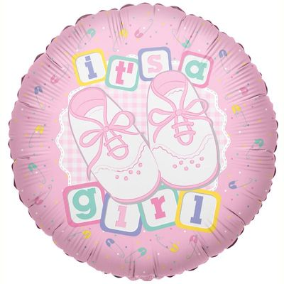 Its A Girl Shoes Foil Balloon