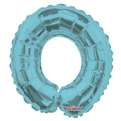 Light Blue Number 0 Balloon 14inch