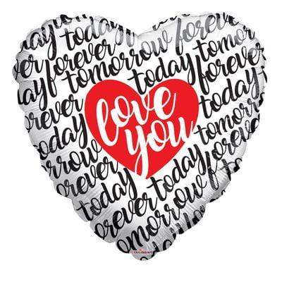 """Love You"" Supershape Heart Balloon"