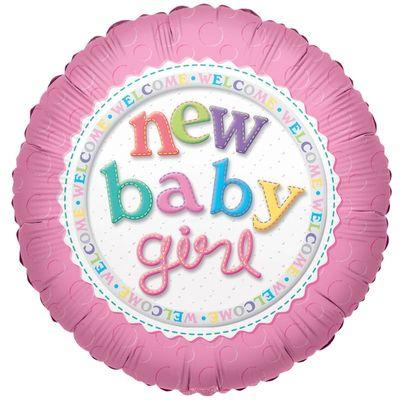 New Baby Girl Helium Balloon
