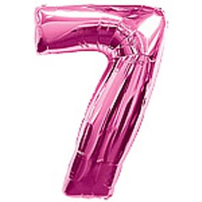 Big Number Balloon 7 Pink – 38 inch