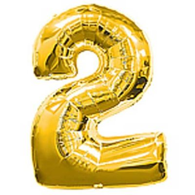 Big Number Balloon 2 Gold