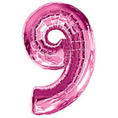Big Number 9 Balloon Pink [38 Inches]