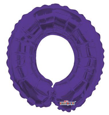 Purple Number 0 Balloon (14 inch)
