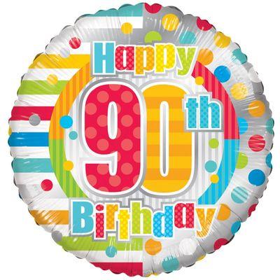 Radiant Happy 90th Birthday Balloon