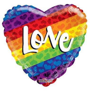 """Love"" Script Rainbow Balloon (18 inches)"