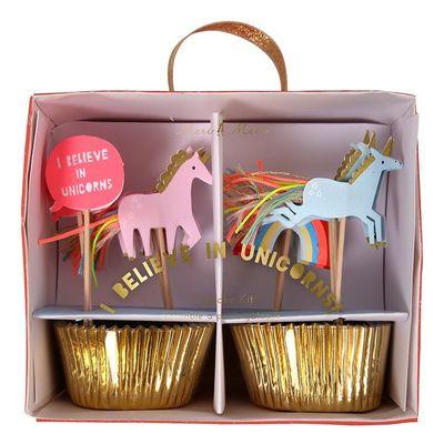 I Believe In Unicorns Cupcake Kit