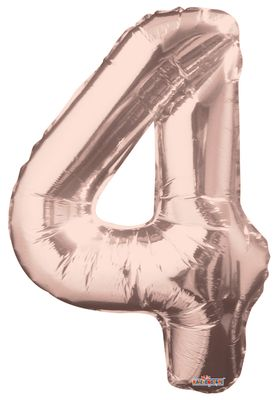 Rose Gold Number 4 Balloon [34 Inches]