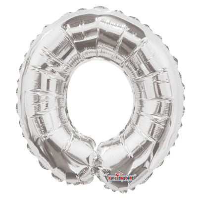 Silver 0 Number Balloon 14inch