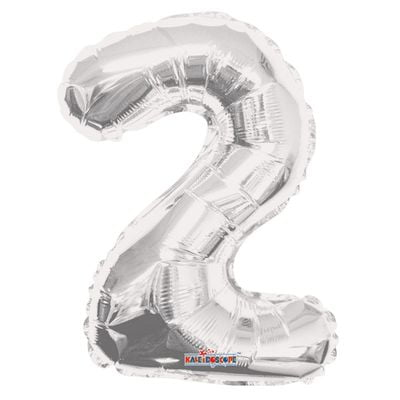 Silver Number 2 Balloon 14inch