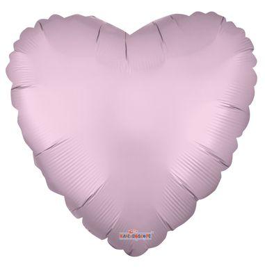 Solid Matt Heart Balloon Pink [18 Inches]