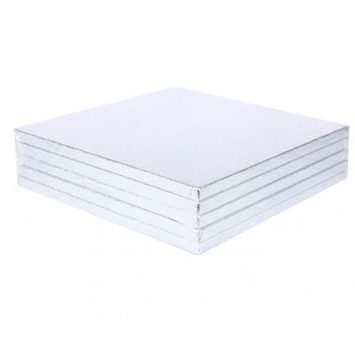 Square Silver Cake Drum (1/2 inch x 10 inch)
