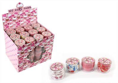 Vintage Tea Design Cupcake Cases – Pack of 100
